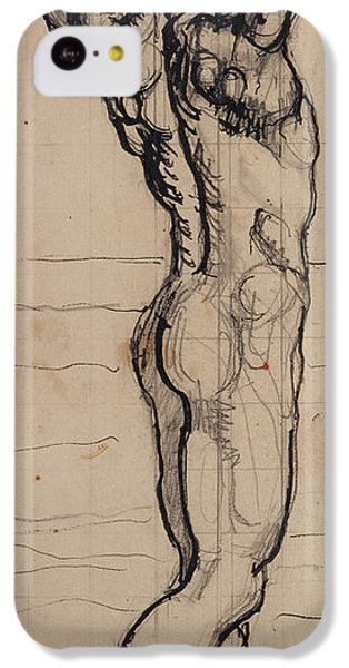 Male Act   Study For The Truth IPhone 5c Case by Ferdninand Hodler