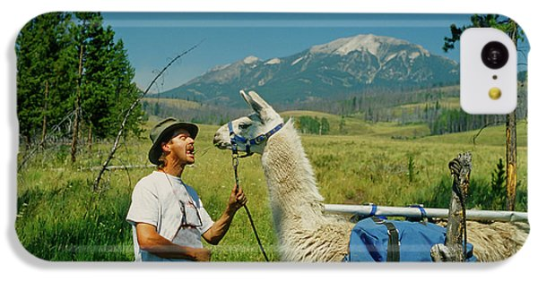 Man Teasing A Llama IPhone 5c Case by Jerry Voss
