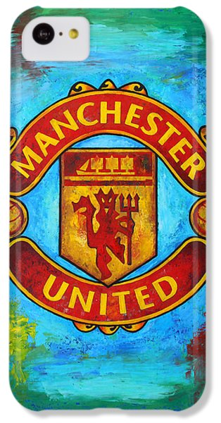 Manchester United Vintage IPhone 5c Case by Dan Haraga