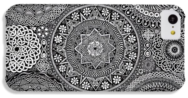 Mandala Bouquet IPhone 5c Case by Matthew Ridgway