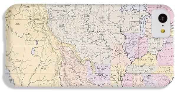 Map Showing The Localities Of The Indian Tribes Of The Us In 1833 IPhone 5c Case by Thomas L McKenney and James Hall