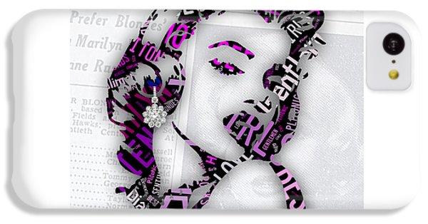 Marilyn Monroe Gentlemen Prefer Blondes IPhone 5c Case by Marvin Blaine