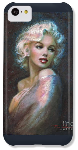 Marilyn Romantic Ww Dark Blue IPhone 5c Case by Theo Danella