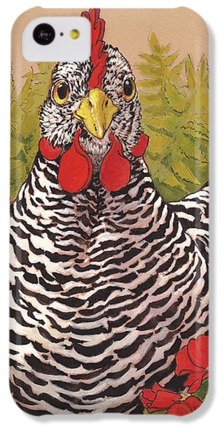 Matilda In The Geraniums IPhone 5c Case by Tracie Thompson