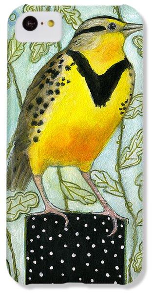 Meadowlark Black Dot Box IPhone 5c Case by Blenda Tyvoll
