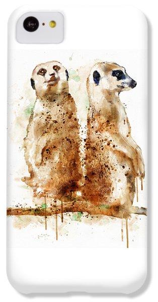 Meerkats IPhone 5c Case by Marian Voicu