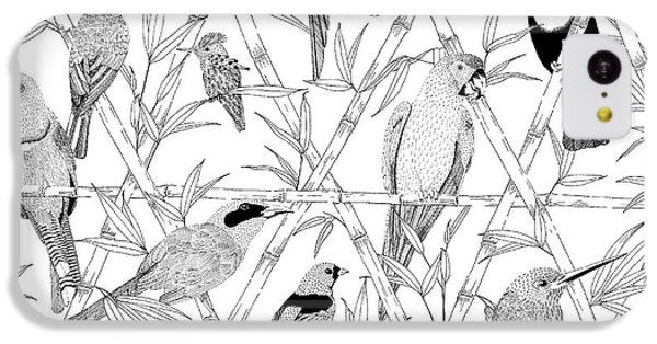 Menagerie Black And White IPhone 5c Case by Jacqueline Colley