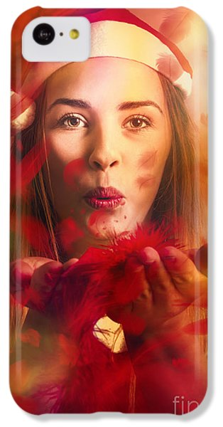 Merry Christmas Elf IPhone 5c Case by Jorgo Photography - Wall Art Gallery