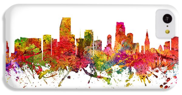 Miami Cityscape 08 IPhone 5c Case by Aged Pixel
