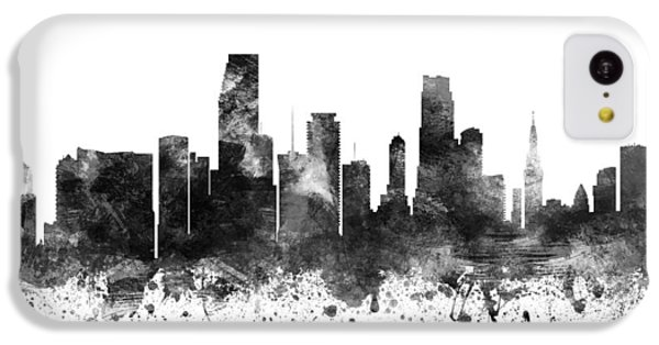 Miami Florida Cityscape 02bw IPhone 5c Case by Aged Pixel