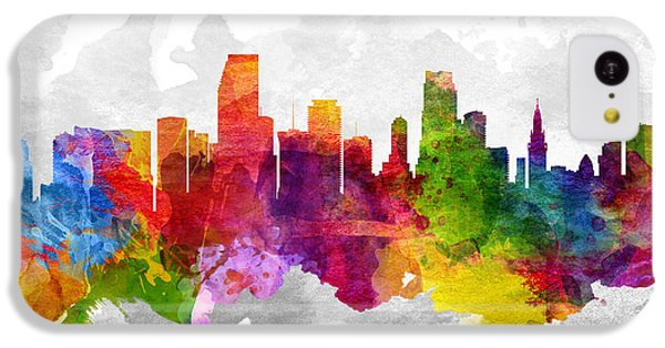 Miami Florida Cityscape 13 IPhone 5c Case by Aged Pixel