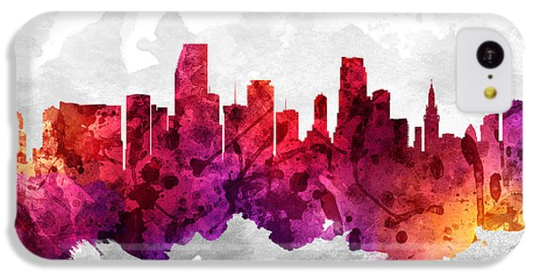 Miami Florida Cityscape 14 IPhone 5c Case by Aged Pixel