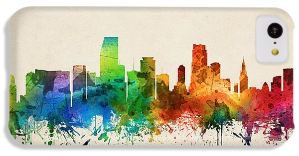 Miami Florida Skyline 05 IPhone 5c Case by Aged Pixel