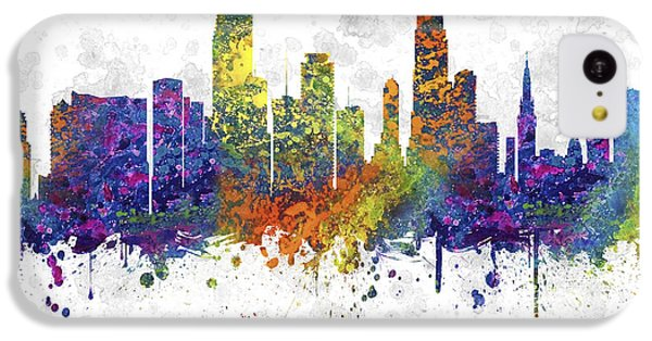 Miami Florida Skyline Color 03sq IPhone 5c Case by Aged Pixel