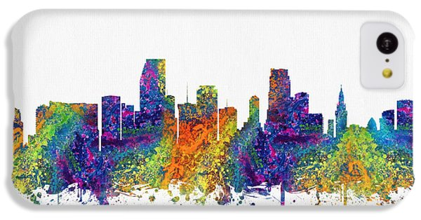 Miami Florida Skyline Color03 IPhone 5c Case by Aged Pixel
