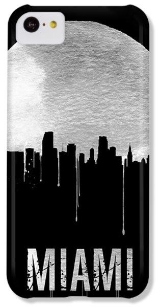 Miami Skyline Black IPhone 5c Case by Naxart Studio