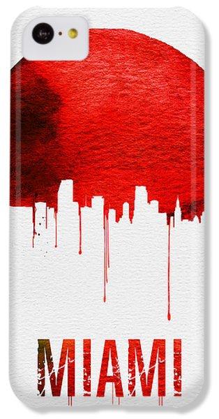 Miami Skyline Red IPhone 5c Case by Naxart Studio