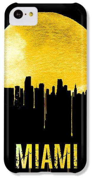 Miami Skyline Yellow IPhone 5c Case by Naxart Studio
