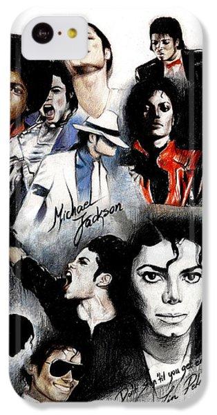 Michael Jackson - King Of Pop IPhone 5c Case by Lin Petershagen