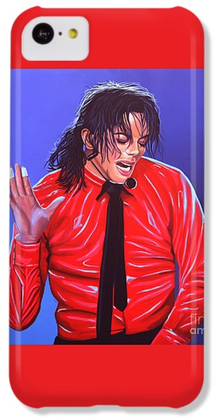 Michael Jackson 2 IPhone 5c Case by Paul Meijering