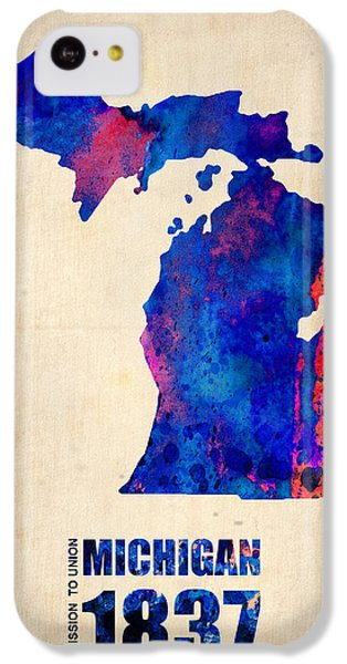 Michigan Watercolor Map IPhone 5c Case by Naxart Studio