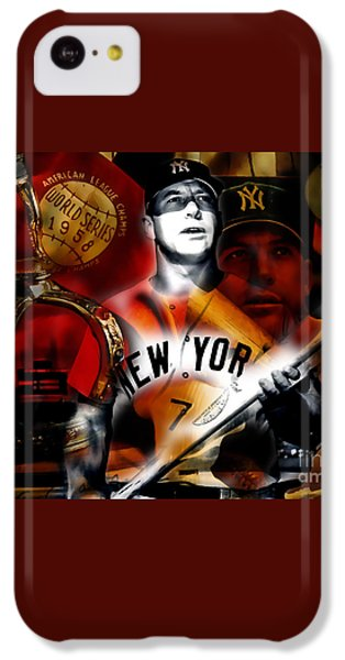 Mickey Mantle Collection IPhone 5c Case by Marvin Blaine
