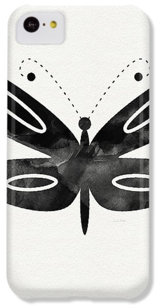 Midnight Butterfly 1- Art By Linda Woods IPhone 5c Case by Linda Woods