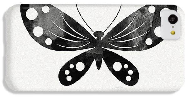 Midnight Butterfly 3- Art By Linda Woods IPhone 5c Case by Linda Woods
