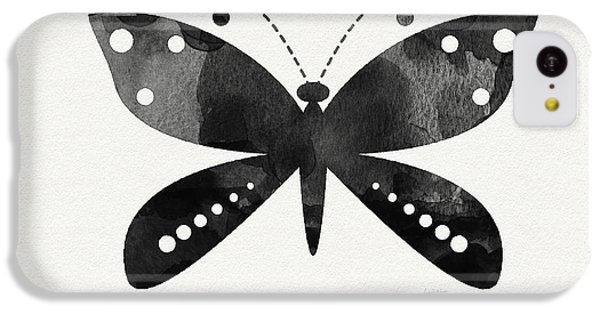 Midnight Butterfly 4- Art By Linda Woods IPhone 5c Case by Linda Woods