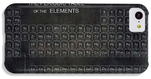 Minimalist Periodic Table IPhone 5c Case by Daniel Hagerman