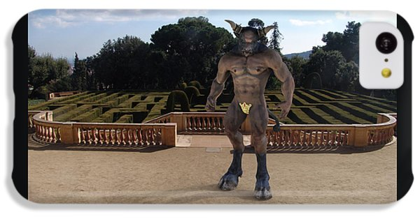 Minotaur In The Labyrinth Park Barcelona. IPhone 5c Case by Joaquin Abella