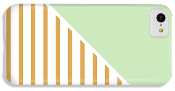 Mint And Gold Geometric IPhone 5c Case by Linda Woods