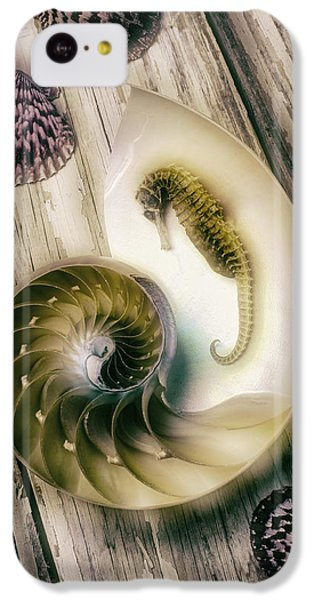 Moody Seahorse IPhone 5c Case by Garry Gay