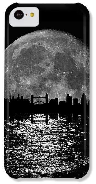 Moonlight London Skyline IPhone 5c Case by Mark Rogan
