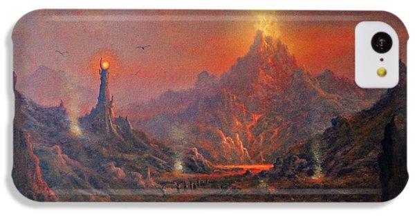 Mordor Land Of Shadow IPhone 5c Case by Joe Gilronan