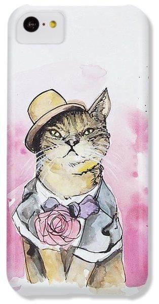 Mr Cat In Costume IPhone 5c Case by Venie Tee