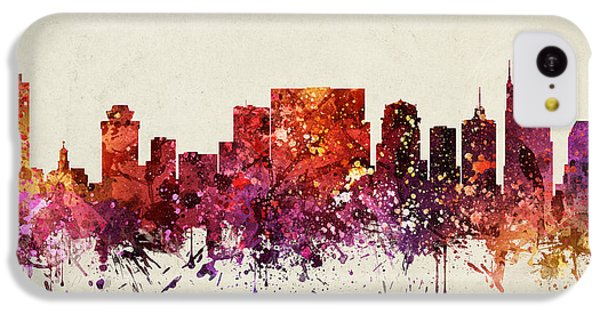 Nashville Cityscape 09 IPhone 5c Case by Aged Pixel