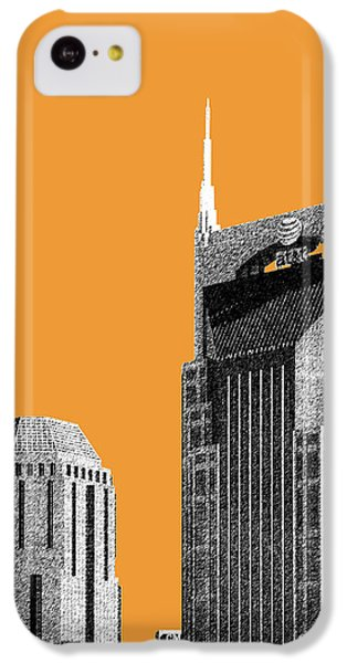 Nashville Skyline At And T Batman Building - Orange IPhone 5c Case by DB Artist