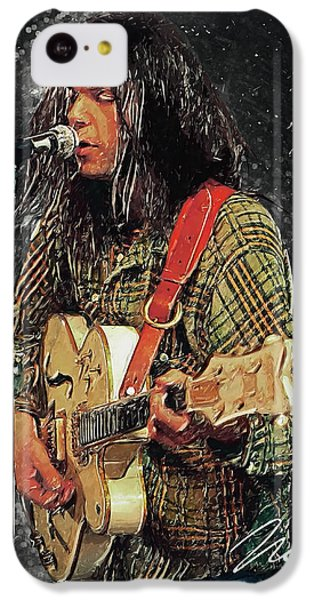 Neil Young IPhone 5c Case by Taylan Apukovska