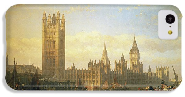 New Palace Of Westminster From The River Thames IPhone 5c Case by David Roberts