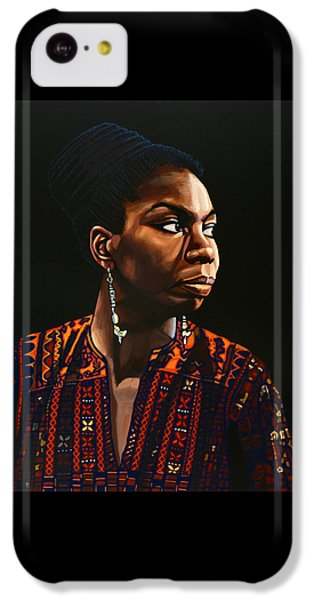 Nina Simone Painting IPhone 5c Case by Paul Meijering