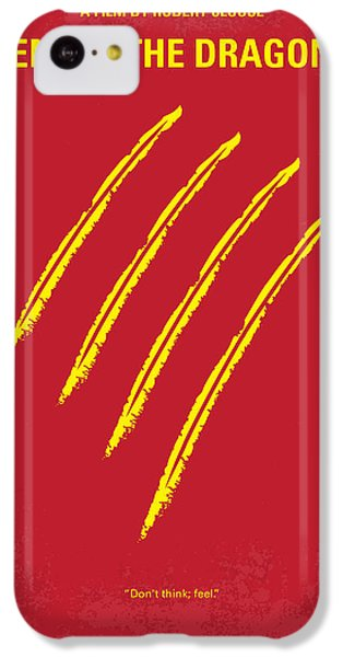 No026 My Enter The Dragon Minimal Movie Poster IPhone 5c Case by Chungkong Art