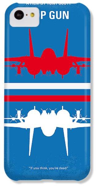 No128 My Top Gun Minimal Movie Poster IPhone 5c Case by Chungkong Art