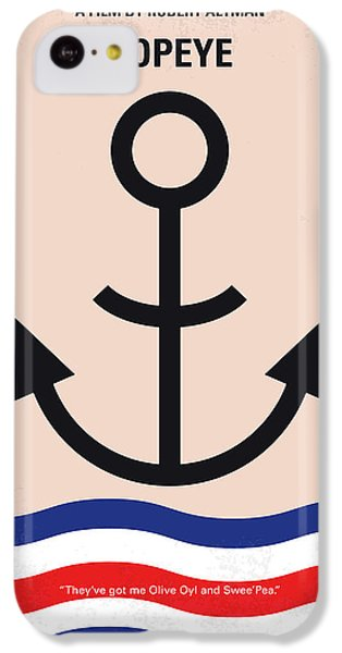 No648 My Popeye Minimal Movie Poster IPhone 5c Case by Chungkong Art