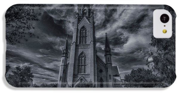 Notre Dame University Church IPhone 5c Case by David Haskett