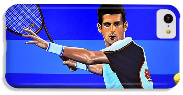 Novak Djokovic IPhone 5c Case by Paul Meijering