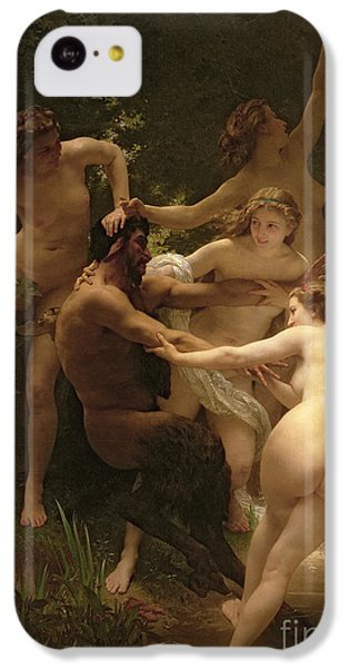 Nymphs And Satyr IPhone 5c Case by William Adolphe Bouguereau