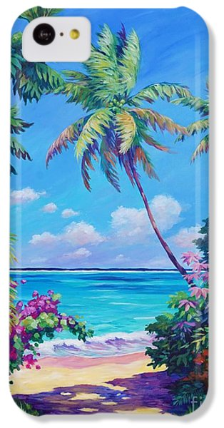 Ocean View With Breadfruit Tree IPhone 5c Case by John Clark