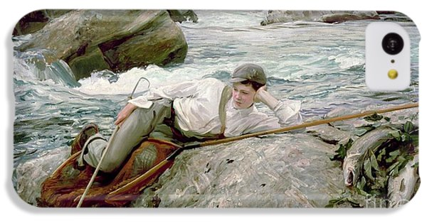 On His Holidays IPhone 5c Case by John Singer Sargent