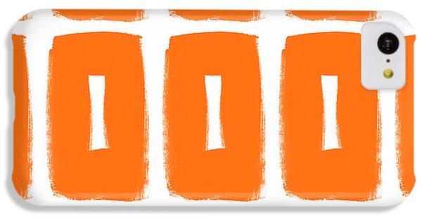 Orange Boxes- Art By Linda Woods IPhone 5c Case by Linda Woods